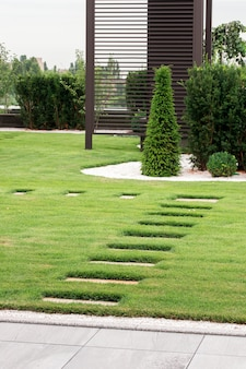 Stone path in a private house