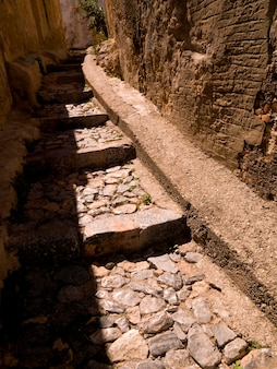 Stone pathway in rhodes greece