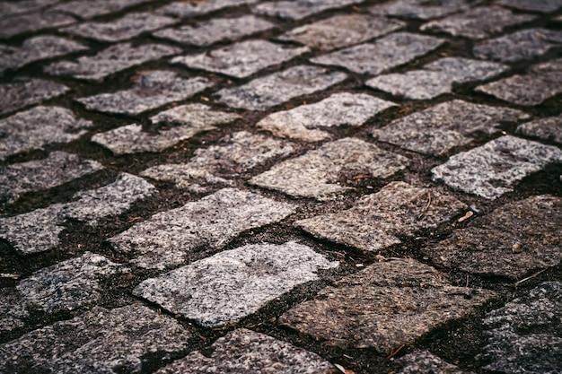 돌 포장 질감 오래 된 마을 거리 도로 배경