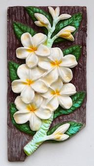 Stone plumeria craft art design for spa