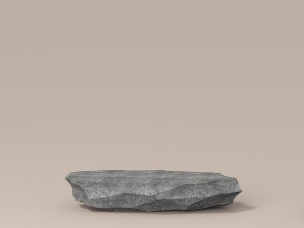 제품을 보여주는 돌 연단