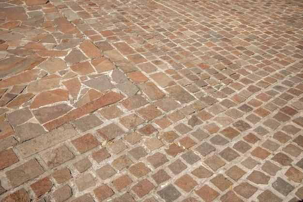 돌 도로 텍스처 아름 다운 오래 된 자연적인 돌 포장