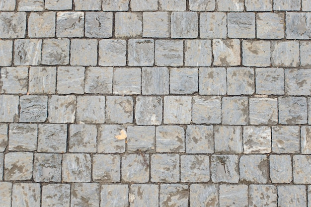 Stone roadway from granite area in prague.