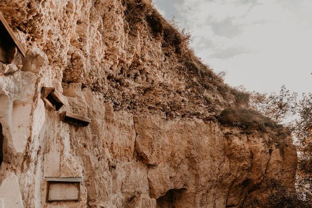 가을 돌 바위 산 절벽