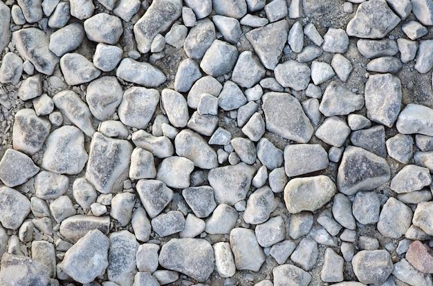 Каменный фон из щебня, текстура