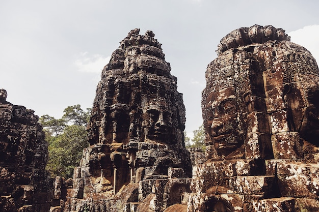Stone ruins of angkor wat temple complex largest religious monument and unesco world heritage site