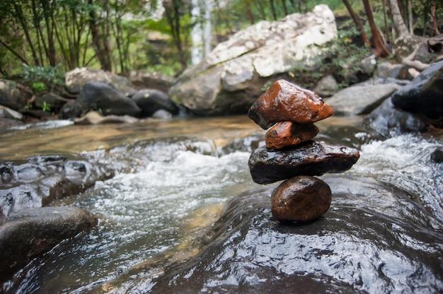Stone stack in river