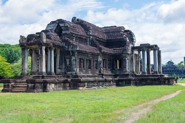 Stone temple in angkor wat,cambodia