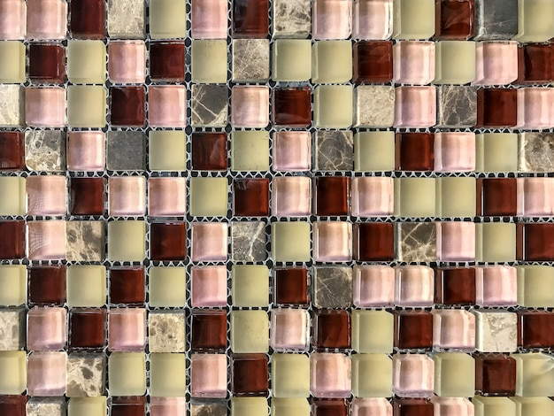 Stone tile mosaic for decoration the bathroom and pool.