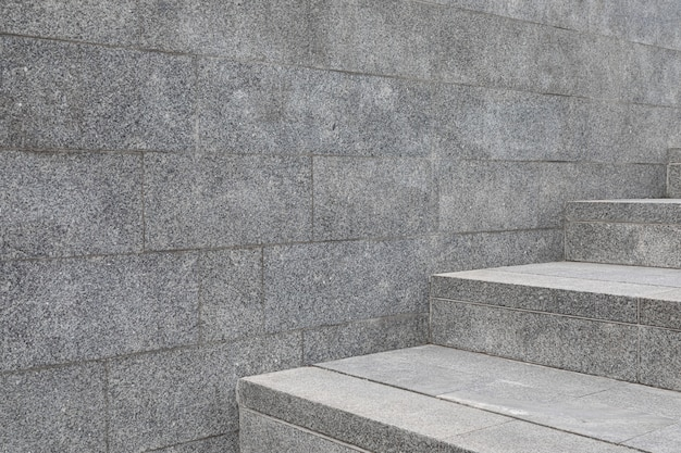 Stone tile wall and steps
