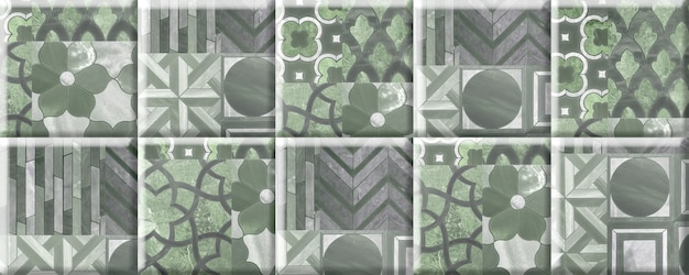 Stone tiles for wall decor with an abstract pattern. element for interior design
