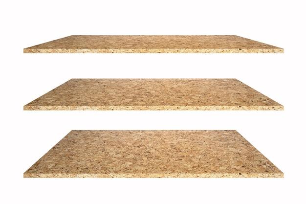 製品を表示するための白い背景の空白のテンプレート上の石のトップテーブルまたは棚。