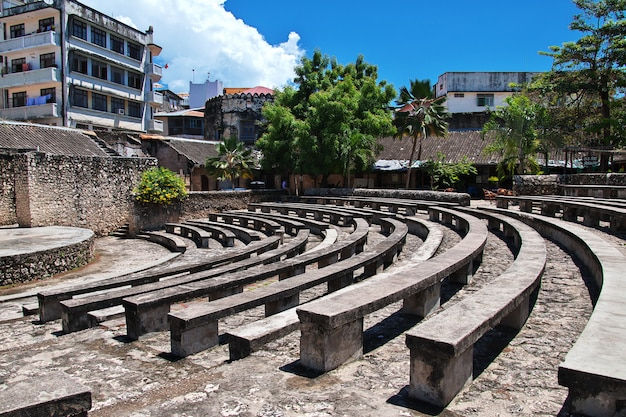 Stone town is capital on zanzibar, tanzania