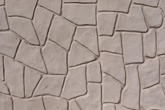 石垣模様の質感、外装