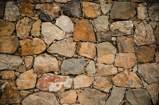 Stone wall texture close up