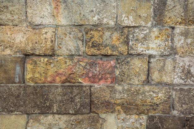 石垣洞窟岩で作られた壁。
