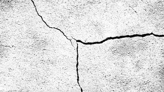 ひびの入った石の壁。デザインのための黒と白のテクスチャ
