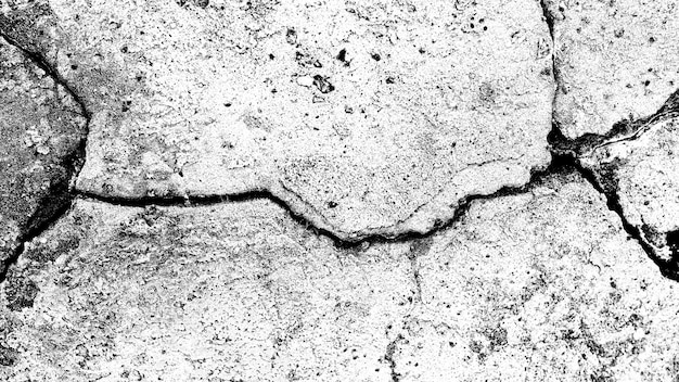 Stone wall with a crack. black and white texture for design