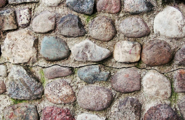 Stone wall with crack