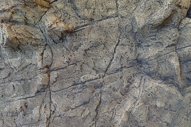Stone wall with cracks