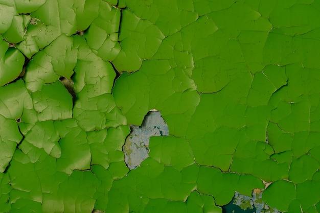 오래 된 녹색 페인트와 돌 벽입니다. 디자인에 대 한 배경입니다. 고품질 사진
