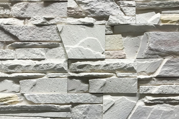 Stone wall with rectangle stones interior craft design