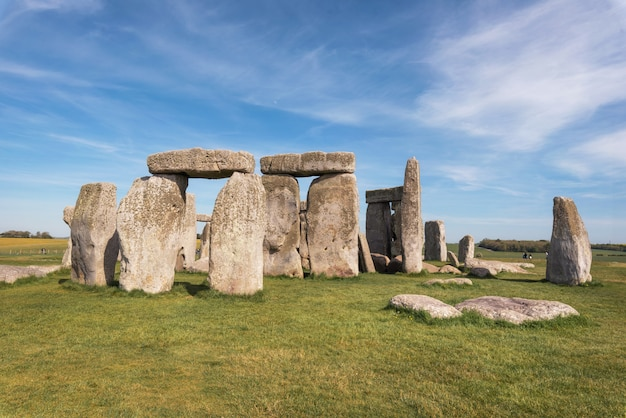 Stonehenge an ancient prehistoric stone monument near salisbury, uk, unesco world heritage site.