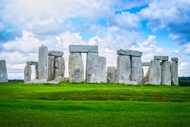 Stonehenge an ancient prehistoric stone monument, wiltshire, uk.