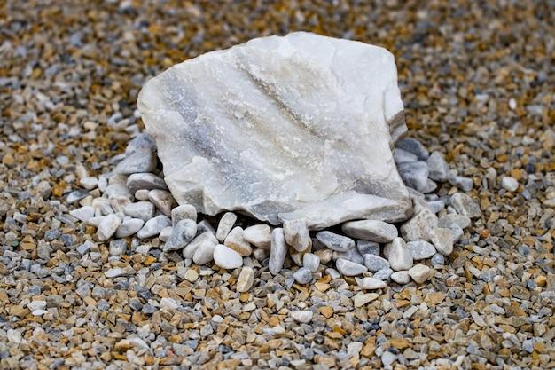 Stones as a decorative elements. landscape design.