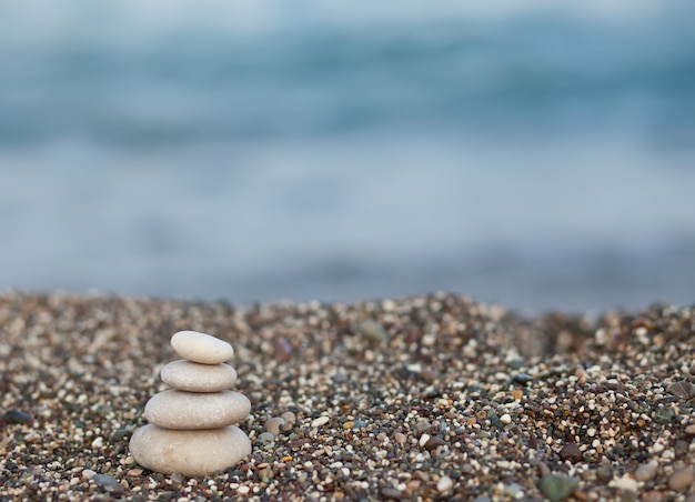 Stones on the coast of the sea