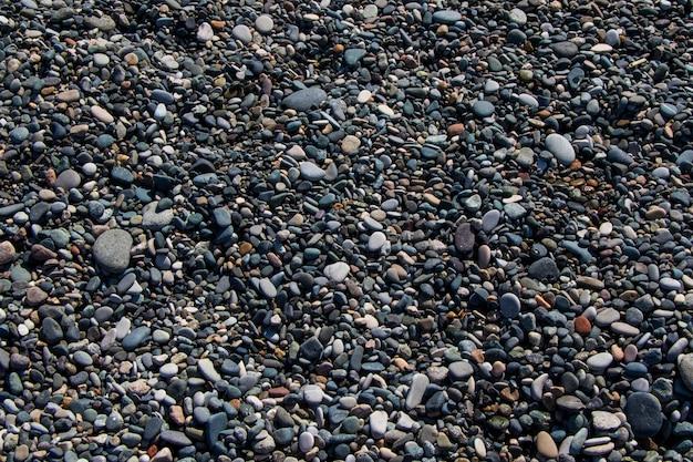 바다, 물, 돌 배경의 맑은 물에 있는 돌