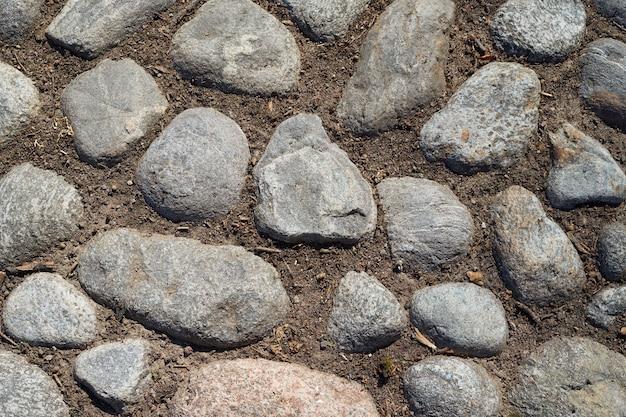 中世の道の背景の石