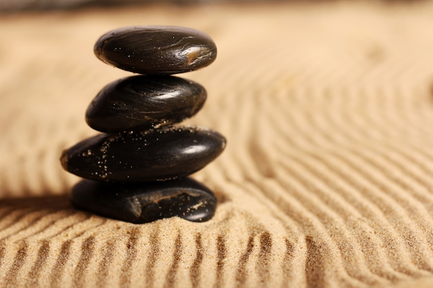 砂の上の石