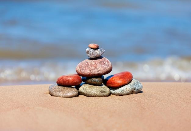 Stones on sea shore