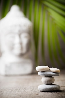 Stones spa treatment scene, zen like concepts.