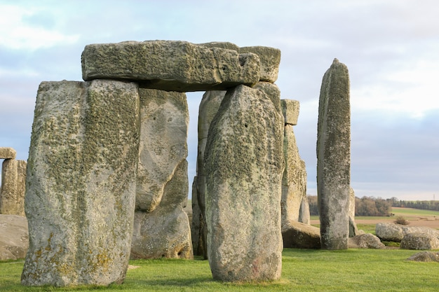 The stones of stonehenge is famous landmark and nature beautiful in wiltshire, england