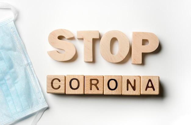 Stop coronavirus message