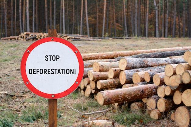 Подписать с надписью stop deforestation