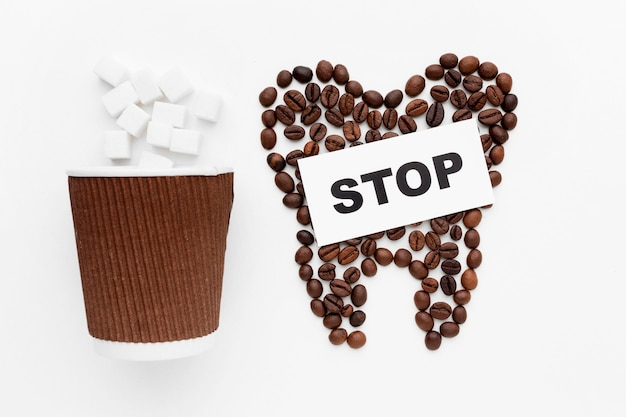 Stop drinking coffee message