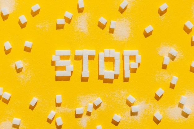 Stop eating unhealthy message