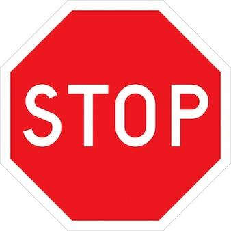 Stop halt road street sign