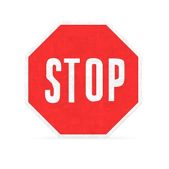 Stop hexagon sign