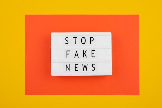 Stop misinformation concept