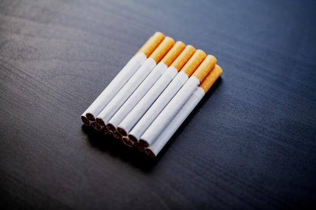 Stop smoking concept with broken cigarettes.