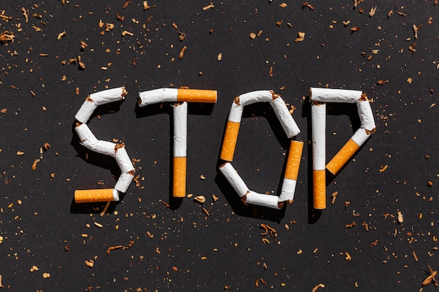 Stop smoking message