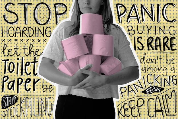 Остановите паническую покупку туалетной бумаги. это изображение является частью нашего сотрудничества с группой поведенческих наук в hill + knowlton strategies, чтобы выявить, какие сообщения о covid-19 лучше всего находят отклик у публики.