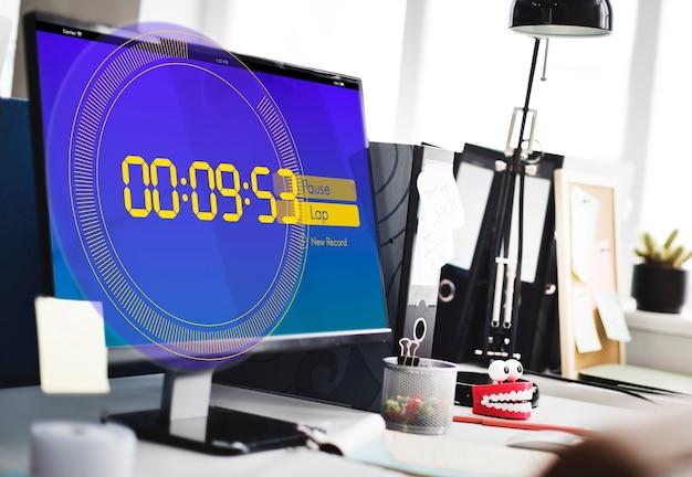 ストップウォッチの新しい記録時間の概念