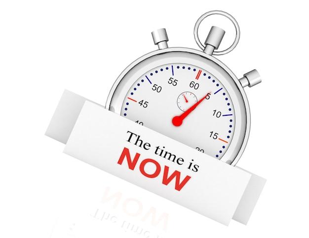 Секундомер - время пришло. концепция времени