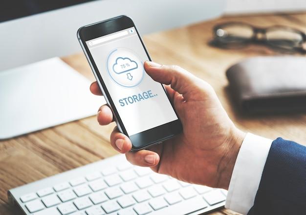 Storage the cloud storage data concept