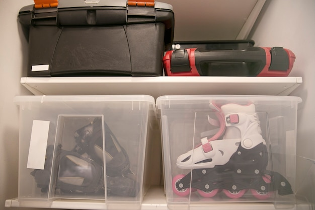 Storage in a plastic container